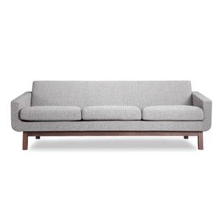 Kardiel Mid-Century Modern Walnut Wood Platform Sofa