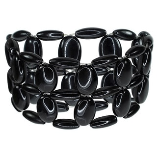 Onyx Multi/Black Stretch Bracelet
