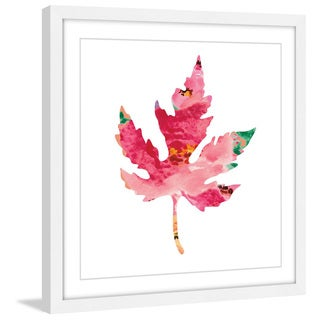 Marmont Hill - 'Floral Oak Leaf' by Diana Alcala Framed Painting Print