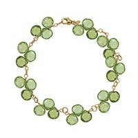 14K Yellow Gold Peridot Bracelet