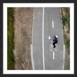 Marmont Hill - 'Bicycle Lane' by Karolis Janulis Framed Painting Print