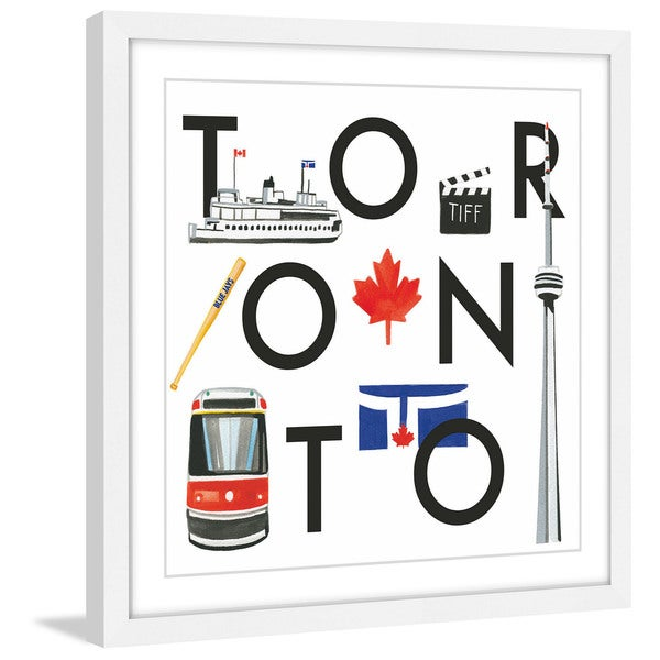 Marmont Hill - 'Toronto Square' by Molly Rosner Framed Painting Print - Multi