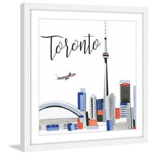 Marmont Hill - 'Toronto Skyline' by Molly Rosner Framed Painting Print