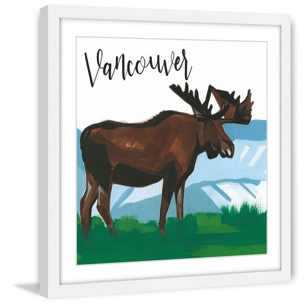 Marmont Hill - 'Vancouver Moose' by Molly Rosner Framed Painting Print