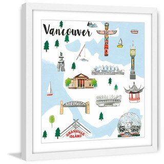 Marmont Hill - 'Travel Vancouver' by Molly Rosner Framed Painting Print