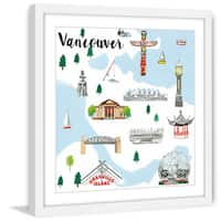 Marmont Hill - 'Travel Vancouver' by Molly Rosner Framed Painting Print - Multi