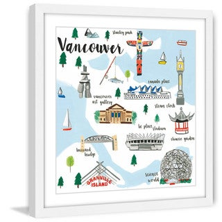 Marmont Hill - 'Vancouver' by Molly Rosner Framed Painting Print