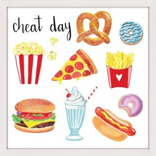Marmont Hill - 'Cheat Day' by Molly Rosner Framed Painting Print
