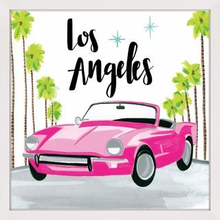 Marmont Hill - 'Pink Car' by Molly Rosner Framed Painting Print