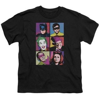 Batman Classic Tv/Pop Cast Short Sleeve Youth 18/1 in Black