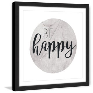 Marmont Hill - 'Be Happy' by Diana Alcala Framed Painting Print