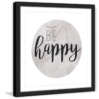 Marmont Hill - 'Be Happy' by Diana Alcala Framed Painting Print - Multi