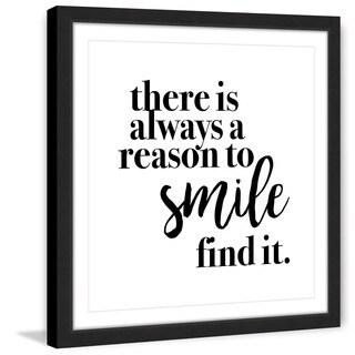 Marmont Hill - 'Reason to Smile' by Diana Alcala Framed Painting Print