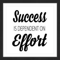 Marmont Hill - 'Effort = Success' by Diana Alcala Framed Painting Print - Multi