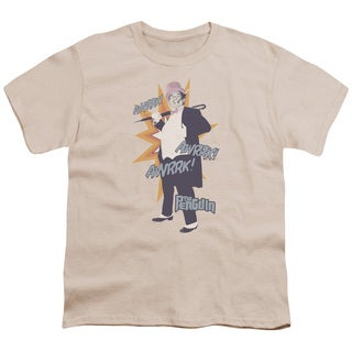 Batman Classic Tv/Penguin Short Sleeve Youth 18/1 Cream/Ivory