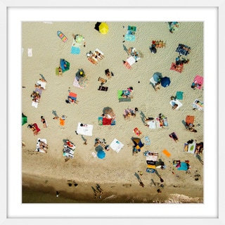 Marmont Hill - 'Beach Towels' by Karolis Janulis Framed Painting Print