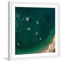 Marmont Hill - 'Let's Float' by Karolis Janulis Framed Painting Print - Multi