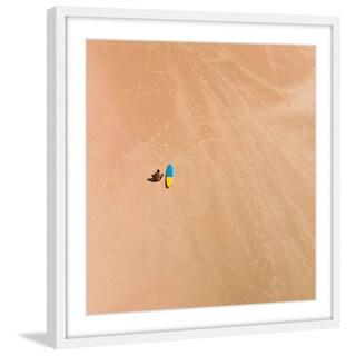 Marmont Hill - 'Lone Surfer' by Karolis Janulis Framed Painting Print
