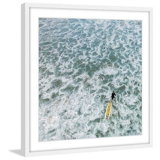 Marmont Hill - 'Choppy Waters' by Karolis Janulis Framed Painting Print