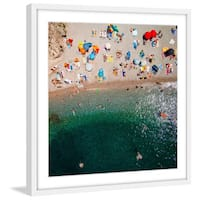Marmont Hill - 'Packed Beach' by Karolis Janulis Framed Painting Print - Multi