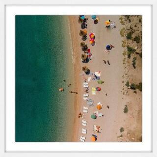 Marmont Hill - Handmade Beach Lineup Framed Print