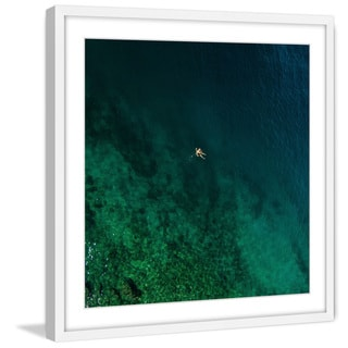 Marmont Hill - 'Alone on a Float' by Karolis Janulis Framed Painting Print