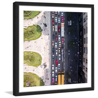 Marmont Hill - 'City Traffic' by Karolis Janulis Framed Painting Print