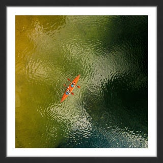 Marmont Hill - 'Orange Kayak' by Karolis Janulis Framed Painting Print