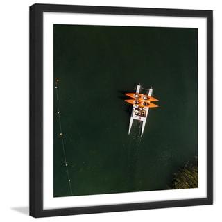 Marmont Hill - 'Orange Kayaks' by Karolis Janulis Framed Painting Print
