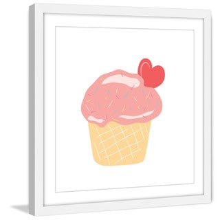Marmont Hill - 'Cupcake Heart' by Diana Alcala Framed Painting Print