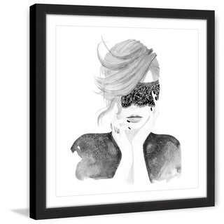 Marmont Hill - 'Lace Mask' by Dena Cooper Framed Painting Print