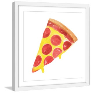Marmont Hill - 'Pizza' by Molly Rosner Framed Painting Print