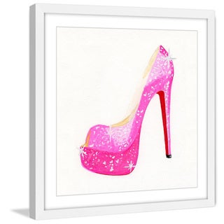Marmont Hill - 'NS Pink Shoe' by Molly Rosner Framed Painting Print