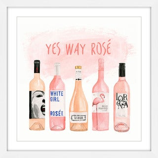 Marmont Hill - 'Yes Way Rose' by Dena Cooper Framed Painting Print