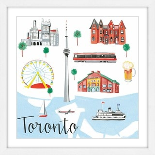 Marmont Hill - 'Toronto' by Molly Rosner Framed Painting Print