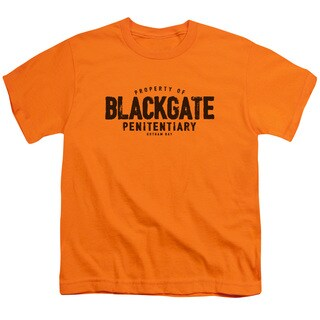 Batman/Blackgate Short Sleeve Youth 18/1 in Orange