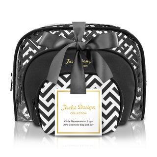 Jacki Design Contour 3-piece Cosmetic Bag Set