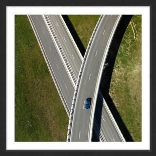 Marmont Hill - 'Criss Cross' by Karolis Janulis Framed Painting Print