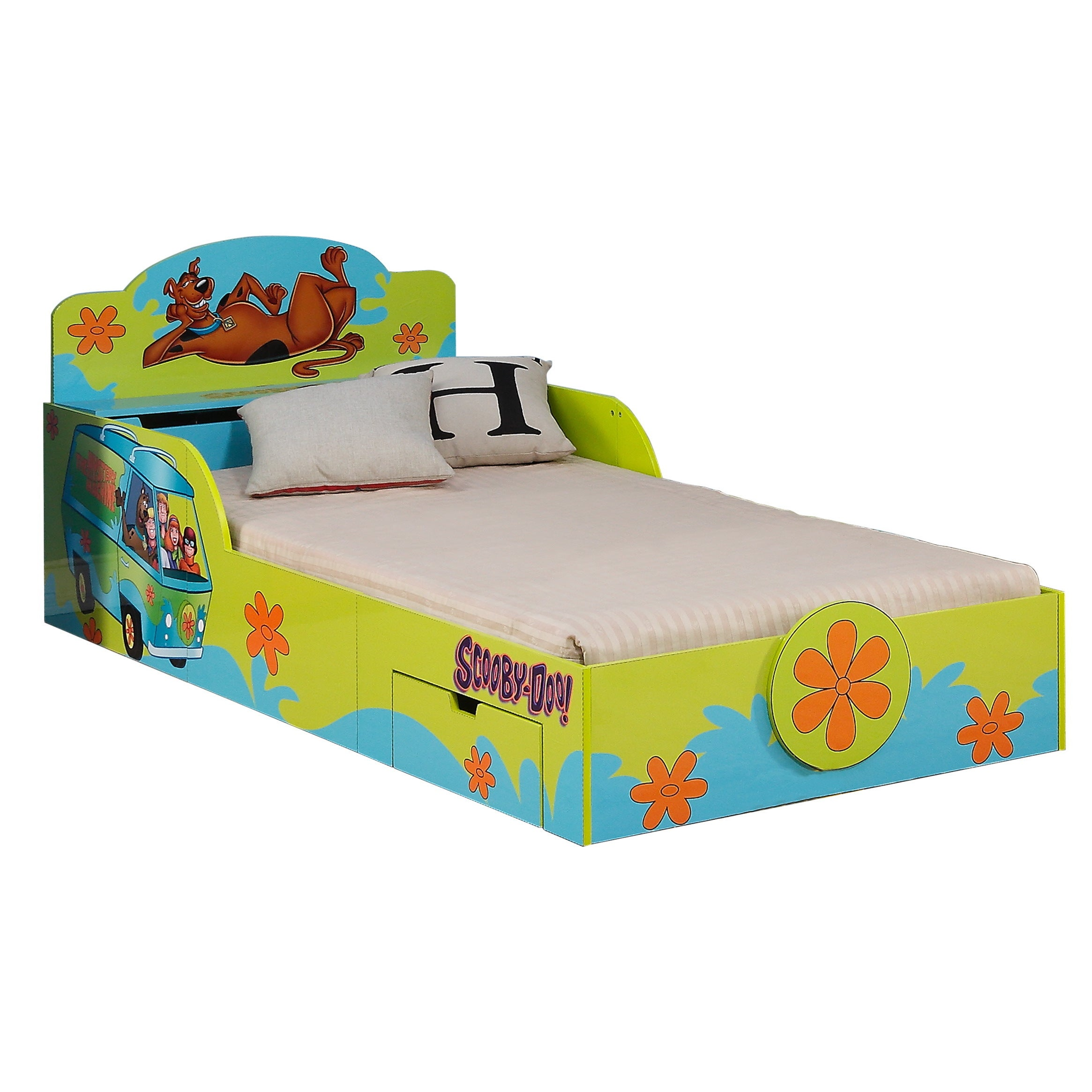 O'Kids Scooby Doo Kids Bed (Scooby Doo), Green, Size Twin