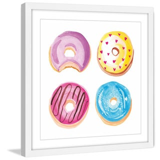 Marmont Hill - 'Donuts' by Molly Rosner Framed Painting Print