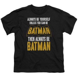Batman/Be Batman Short Sleeve Youth 18/1 in Black