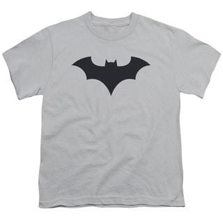 Batman/52 Title Logo Short Sleeve Youth 18/1 in Silver