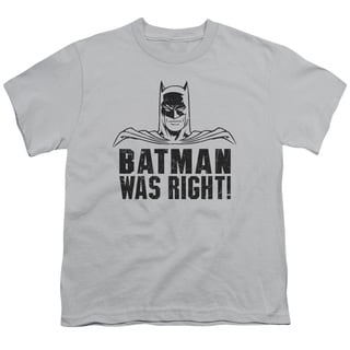 Batman/Was Right Short Sleeve Youth 18/1 in Silver