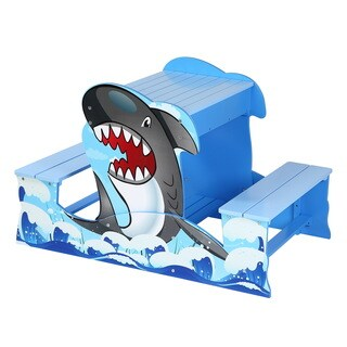 O'Kids Shark Picnic Table and Sandbox Play Set