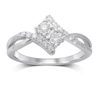 Unending Love 14K White Gold Diamond Fashion Ring
