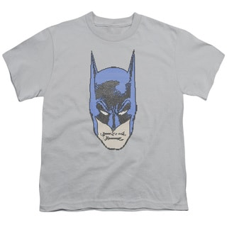 Batman/Bitman Short Sleeve Youth 18/1 in Silver