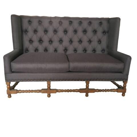 Alba Black Contemporary Tufted Sofa
