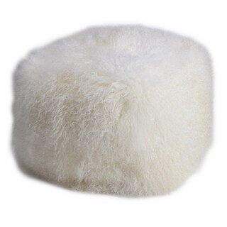 18-inch x 18-inch x 16-inch Lamb-fur Pouf