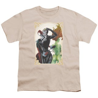 Batman/Sirens Nouveau Short Sleeve Youth 18/1 in Cream