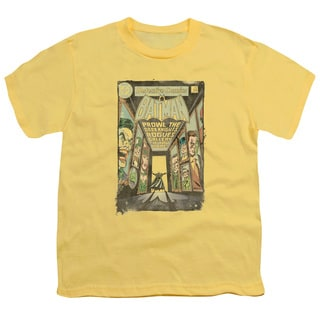 Batman/Rogues Gallery Cover Short Sleeve Youth 18/1 in Banana